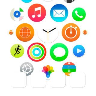 Apple Watch風白棚の iPhone5s / iPhone5c / iPhone5 壁紙