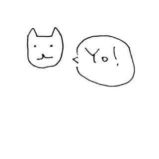 イラスト猫白Yo!の iPhone5s / iPhone5c / iPhone5 壁紙
