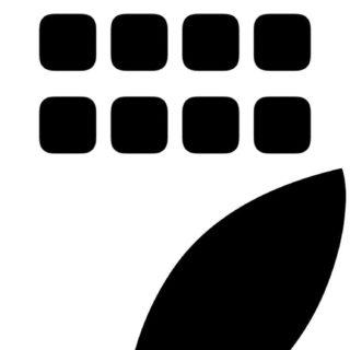 Appleロゴ棚白黒の iPhone5s / iPhone5c / iPhone5 壁紙