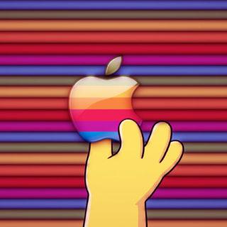 Appleロゴカラフル手の iPhone5s / iPhone5c / iPhone5 壁紙