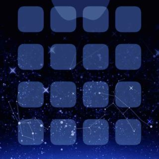 Appleロゴ棚クール青宇宙の iPhone5s / iPhone5c / iPhone5 壁紙