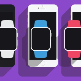イラストiPhone Apple Watchの iPhone5s / iPhone5c / iPhone5 壁紙