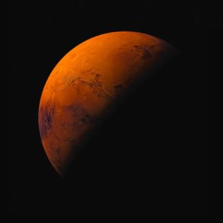 惑星橙黒iOS9の iPhone5s / iPhone5c / iPhone5 壁紙