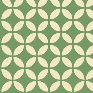 模様丸緑白の iPhone5s / iPhone5c / iPhone5 壁紙