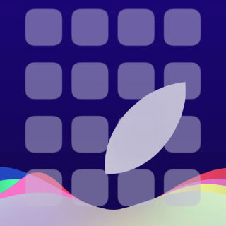 Appleロゴ イベントクール棚紫の iPhone5s / iPhone5c / iPhone5 壁紙