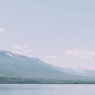 風景白青山海の iPhone5s / iPhone5c / iPhone5 壁紙