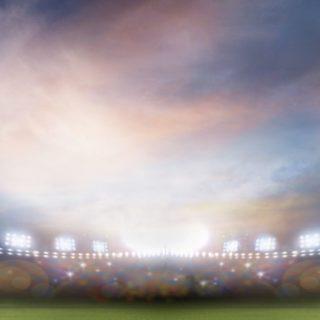 風景スタジアム緑の iPhone5s / iPhone5c / iPhone5 壁紙