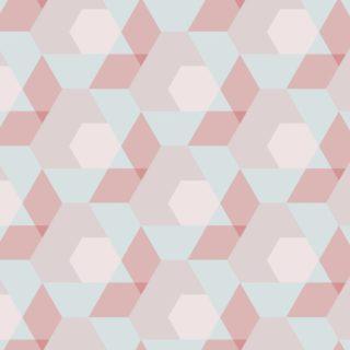 幾何学模様赤青の iPhone5s / iPhone5c / iPhone5 壁紙