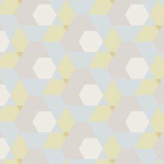 幾何学模様黄青の iPhone5s / iPhone5c / iPhone5 壁紙