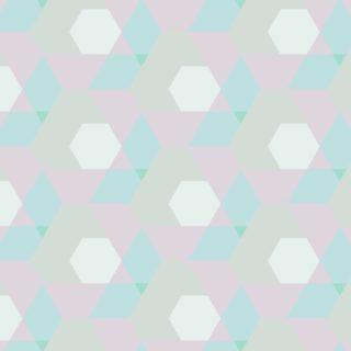 幾何学模様青桃の iPhone5s / iPhone5c / iPhone5 壁紙