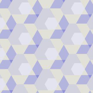 幾何学模様紫黄の iPhone5s / iPhone5c / iPhone5 壁紙