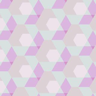 幾何学模様赤緑の iPhone5s / iPhone5c / iPhone5 壁紙