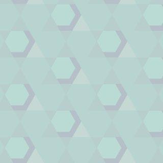 幾何学模様青緑の iPhone5s / iPhone5c / iPhone5 壁紙