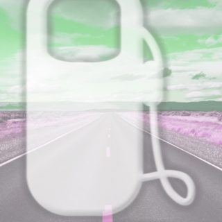 風景道路緑の iPhone5s / iPhone5c / iPhone5 壁紙