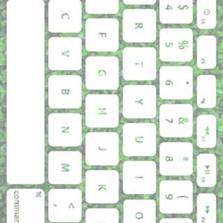葉キーボード緑白の iPhone5s / iPhone5c / iPhone5 壁紙