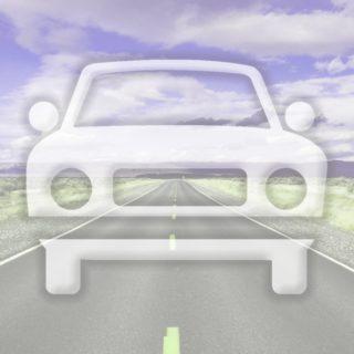 風景車道路紫の iPhone5s / iPhone5c / iPhone5 壁紙