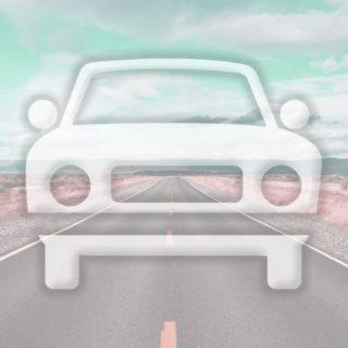 風景車道路水色の iPhone5s / iPhone5c / iPhone5 壁紙