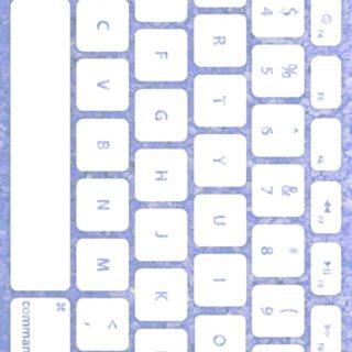 キーボード青紫白の iPhone5s / iPhone5c / iPhone5 壁紙
