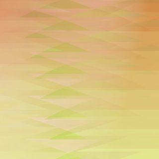 グラデーション模様三角黄の iPhone5s / iPhone5c / iPhone5 壁紙