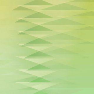グラデーション模様三角黄緑の iPhone5s / iPhone5c / iPhone5 壁紙