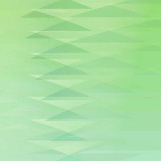 グラデーション模様三角緑の iPhone5s / iPhone5c / iPhone5 壁紙