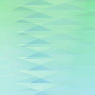 グラデーション模様三角青緑の iPhone5s / iPhone5c / iPhone5 壁紙