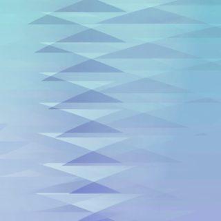 グラデーション模様三角青の iPhone5s / iPhone5c / iPhone5 壁紙