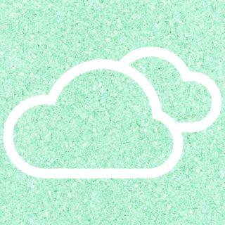 雲青緑の iPhone5s / iPhone5c / iPhone5 壁紙