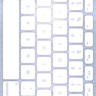 海キーボード青紫白の iPhone5s / iPhone5c / iPhone5 壁紙