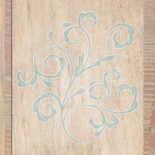 木目葉茶青の iPhone5s / iPhone5c / iPhone5 壁紙