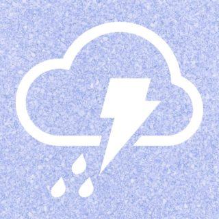 曇雨雷青紫の iPhone5s / iPhone5c / iPhone5 壁紙