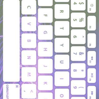 キーボード紫白の iPhone5s / iPhone5c / iPhone5 壁紙