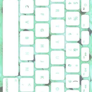 花キーボード青緑白の iPhone5s / iPhone5c / iPhone5 壁紙