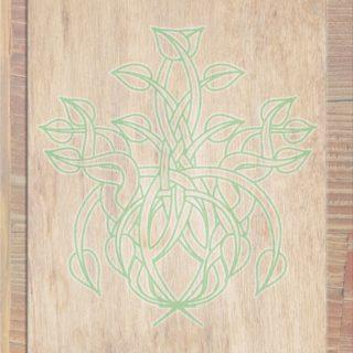 木目葉茶緑の iPhone5s / iPhone5c / iPhone5 壁紙