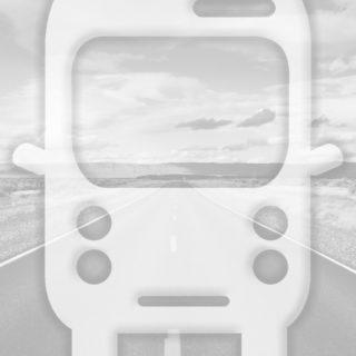 風景道路バス灰の iPhone5s / iPhone5c / iPhone5 壁紙
