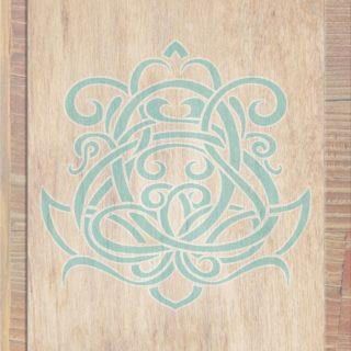 木目茶青の iPhone5s / iPhone5c / iPhone5 壁紙