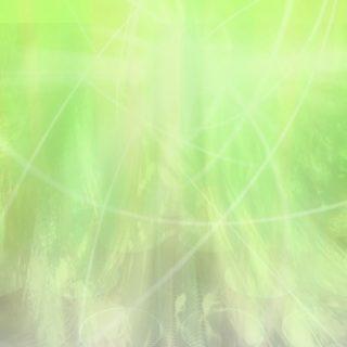 グラデーション丸黄緑の iPhone5s / iPhone5c / iPhone5 壁紙