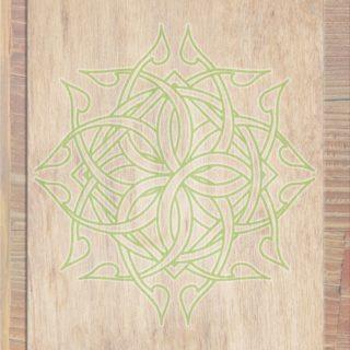 木目茶緑の iPhone5s / iPhone5c / iPhone5 壁紙