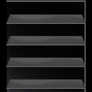 棚黒灰シンプル