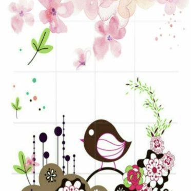 小鳥 花の iPhone6s / iPhone6 壁紙