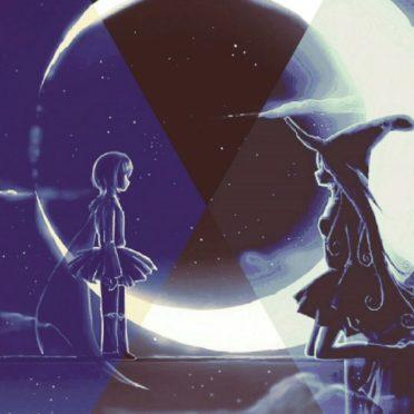 魔女 月の iPhone6s / iPhone6 壁紙
