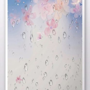 桜 雨の iPhone6s / iPhone6 壁紙