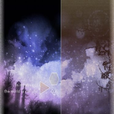 夜空 幻想的の iPhone6s / iPhone6 壁紙
