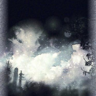 夜空 雲の iPhone6s / iPhone6 壁紙