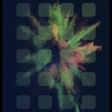 爆発 カラフルの iPhone6s / iPhone6 壁紙
