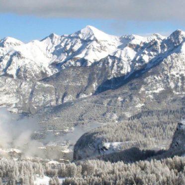 風景雪山の iPhone6s / iPhone6 壁紙