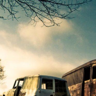 風景廃車の iPhone6s / iPhone6 壁紙