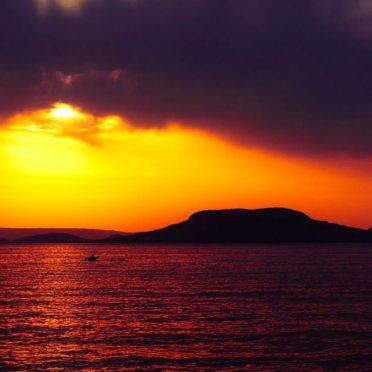 風景海橙夕暮れの iPhone6s / iPhone6 壁紙