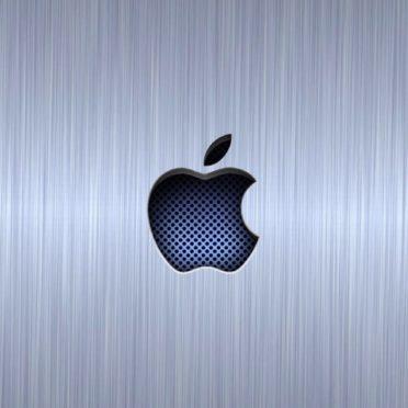 Appleロゴクール青銀の iPhone6s / iPhone6 壁紙