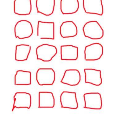棚線赤白の iPhone6s / iPhone6 壁紙